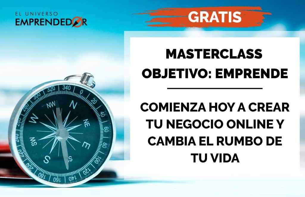 Masterclass gratis de emprendimiento digital